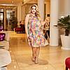 Женское летнее легкое шифоновое платье по колено, большой размер!, фото 3