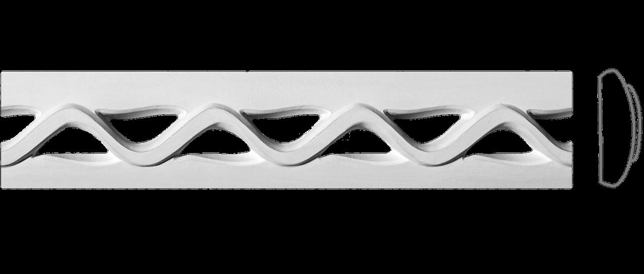 Декоративний фриз з гіпсу, гіпсовий фриз з орнаментом Ф-25 h70 мм