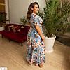 Красиве жіноче літнє плаття на запах, в квітковий принт, великий розмір!, фото 8