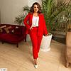 Жіночий модний брючний костюм трійка (штани, піджак і майка) великий розмір!, фото 2