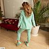 Женский модный брючный костюм тройка (брюки, пиджак и майка) большой размер!, фото 5