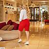 Жіночі літні довгі лляні шорти у великому розмірі, фото 2