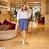 Жіночі літні довгі лляні шорти у великому розмірі, фото 3