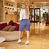 Жіночі літні довгі лляні шорти у великому розмірі, фото 5