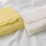 Відріз двошарового жатого мусліну, колір айворі, розмір 75 * 135 см, фото 4