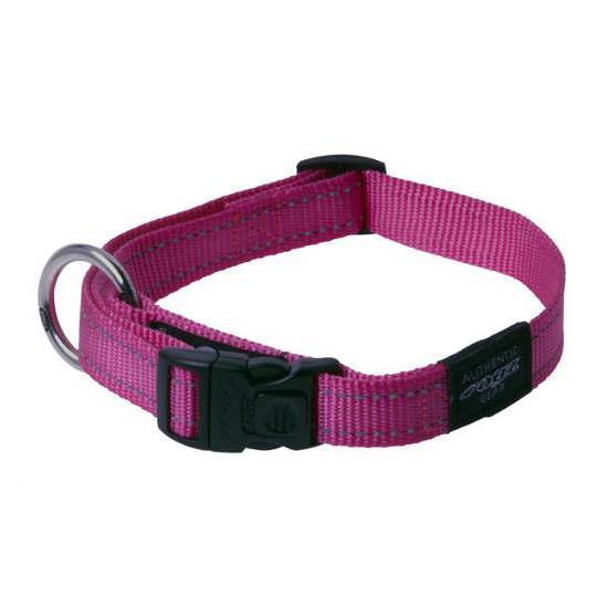 Нейлоновий нашийник для собак, рожевий Rogz Utility L: 34-56 см x 20 мм