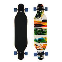 Лонгборд деревянный канадский клён скейтборд 880, наждак, колёса PU 70 мм