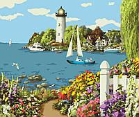 Картины по номерам 40х50 см Райский уголок КНО2226 ТМ Идейка