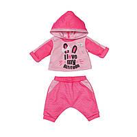 Набор одежды для куклы BABY BORN - СПОРТИВНЫЙ КОСТЮМ ДЛЯ БЕГА (на 43 cm, розовый)
