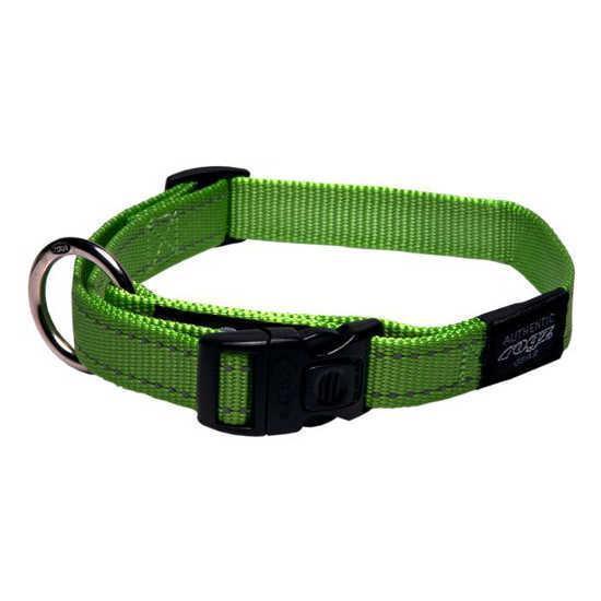 Нейлоновий нашийник для собак, зелений Utility Green (Рогз) S: 20-31 см x 11 мм