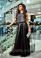 УЦІНКА стильне Жіноче вечірнє плаття,Тканина: Люрекс, атлас, фатин,довге в підлогу,в відкритою спинкою(42)