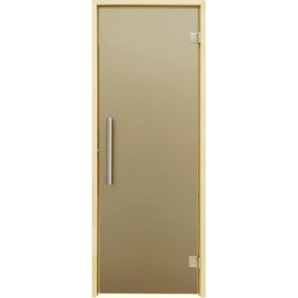 Дверь для бани и сауны Tesli Steel Sateen 2000 х 683