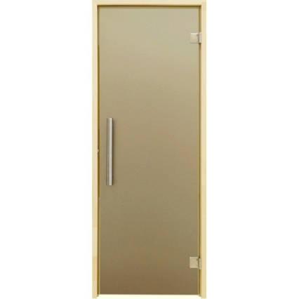 Дверь для бани и сауны Tesli Steel Sateen 2000 х 683, фото 2