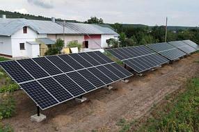 Солнечная сетевая электростанция 30 кВт комплект СЭС на солнечных батареях для дома