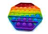 Pop It (поп ит) сенсорная игрушка антистресс, радуга восьмиугольник