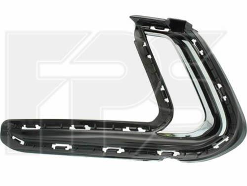 Решітка в бампері ліва Hyundai Elantra AD '16-18 (з отв. під DRL) (FPS)