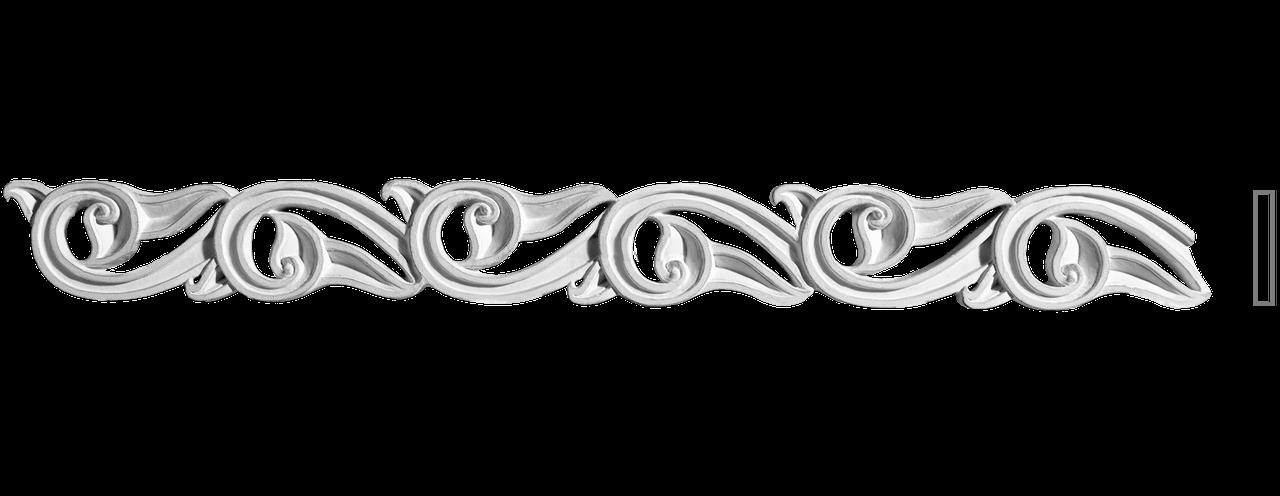 Декоративний фриз з гіпсу, гіпсовий фриз з орнаментом Ф-26 h45 мм