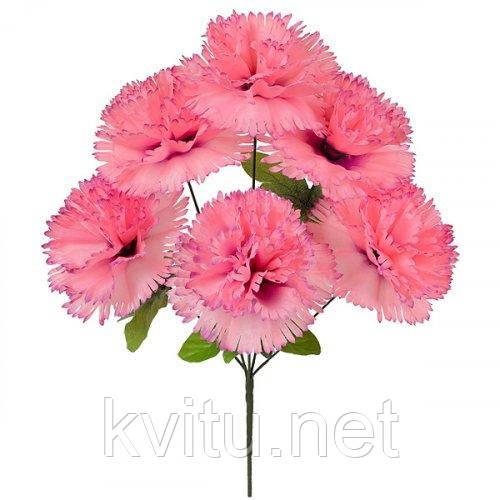 Искусственные цветы букет гвоздик крупных, 47см