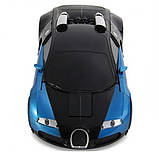 Машинка трансформер Bugatti Robot Car Size 1:18 - Синяя, фото 3