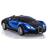 Машинка трансформер Bugatti Robot Car Size 1:18 - Синяя, фото 4