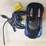 Машинка трансформер Bugatti Robot Car Size 1:18 - Синяя, фото 6