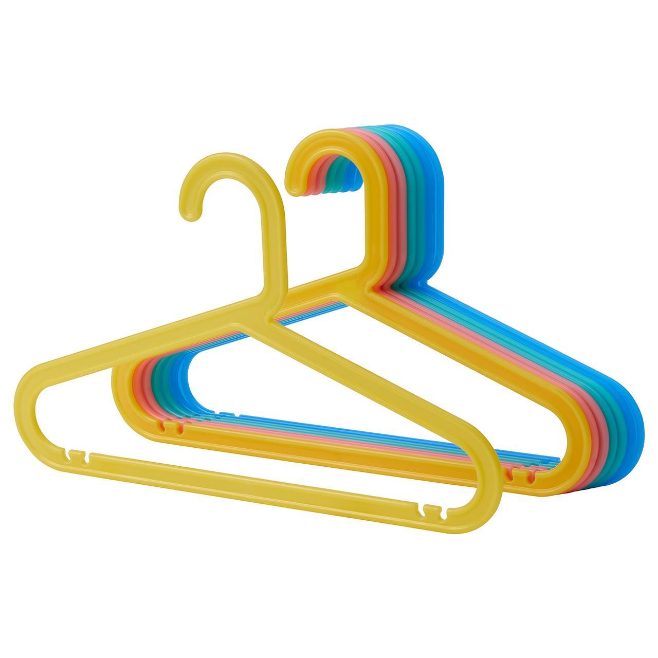 Вешалка для детской верхней одежды IKEA BAGIS 8 штук Разноцветные (004.665.98)