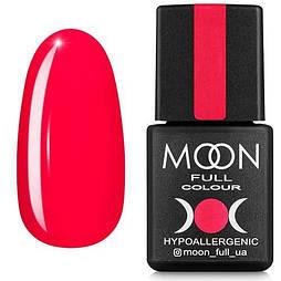 Гель-лак Moon Full №125 оранжево-красный, 8мл.