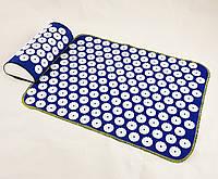 Набор коврик акупунктурный массажный + подушка Аппликатор Кузнецова OSPORT (n-0002)