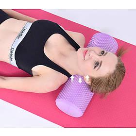 Массажный ролик, валик для массажа спины (йога ролл массажер для спины, шеи, ног) OSPORT 30*15см (MS 2353)