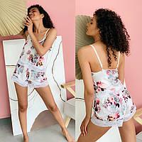 Жіноча стильна шовкова піжама: шорти і топ Норма