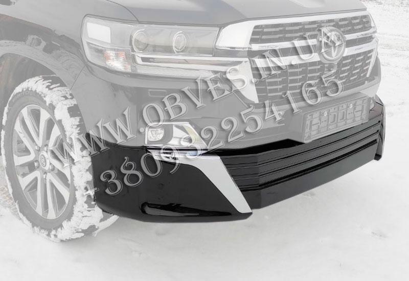 Накладка переднего бампера Toyota Land Cruiser 200 в стиле Executive Lounge 2021