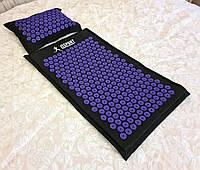 Массажный коврик и подушка (аппликатор Кузнецова) массажер для спины/головы/ног/тела OSPORT Premium (apl-777)