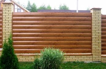 Забор из блок хауса под дерево (материал)