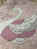 """Бесплатная доставка! Ковер в детскую """"Принцесса лебедь"""" 140х190см., фото 5"""