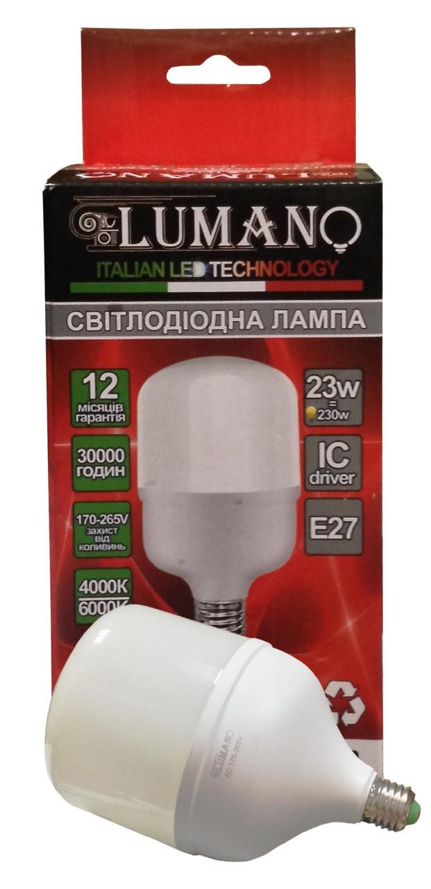 Лампа високопотужна LED T80-23W-E27-4000K 6000Lm LU-LT23E27 TM LUMANO