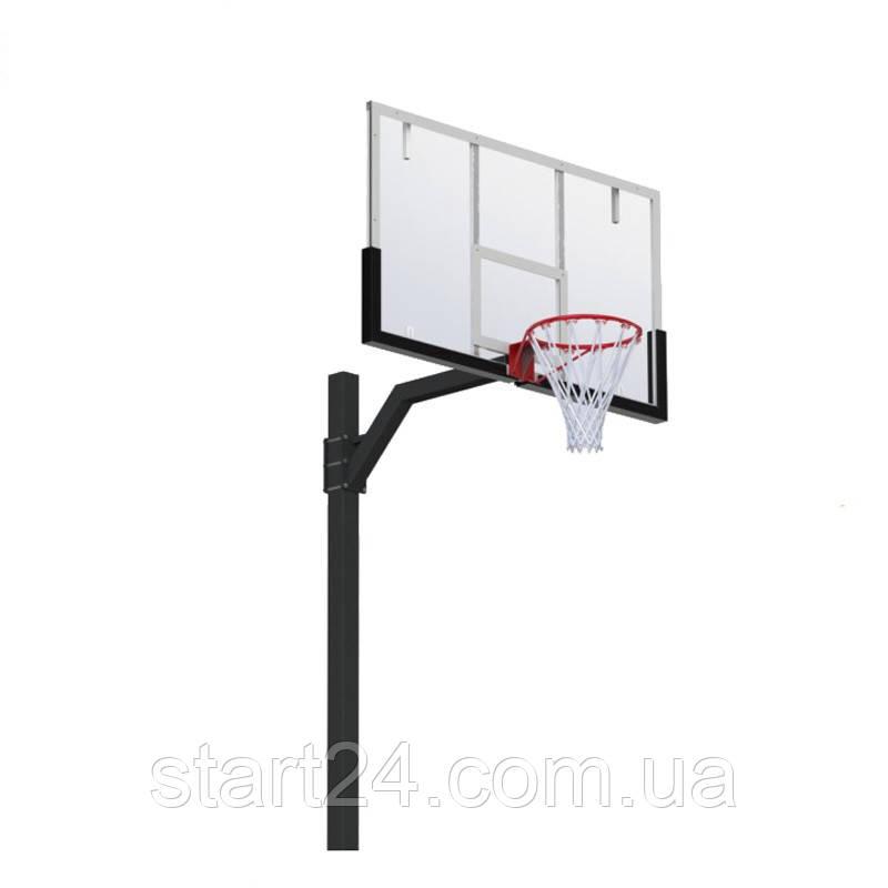 Стойка баскетбольная регулируемая под бетонирование вынос 1200 мм разборная