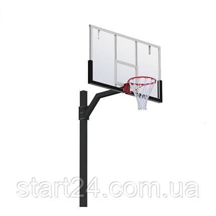 Стойка баскетбольная регулируемая под бетонирование вынос 1200 мм разборная, фото 2