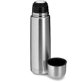 Термос вакуумний Supretto з нержавіючої сталі з чохлом 1 л, Металік