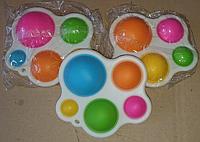 Антистресс Simple Dimple Разноцветный Симпл Димпл Фиджет Игрушка для Снятия Стресса Радуга Новинка 2021, фото 1