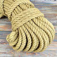 14 мм 50 м Джутова декоративна канат, мотузка для блокхаус, декорування інтер'єру