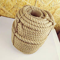 30 мм 50 м Джутова декоративна канат, мотузка для блокхаус, декорування інтер'єру