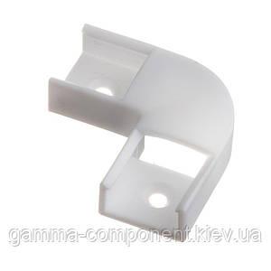 Конектор кутовий для світлодіодного профілю ПФ-9 90° пластиковий