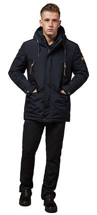 Парку зимова з кишенями чоловіча колір темно-сірий, коричневий модель 1533 (ЗАЛИШИВСЯ ТІЛЬКИ 54(XXL)), фото 2