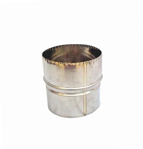 Переходник Ø115/120 мм для дымоходов из нержавеющей стали