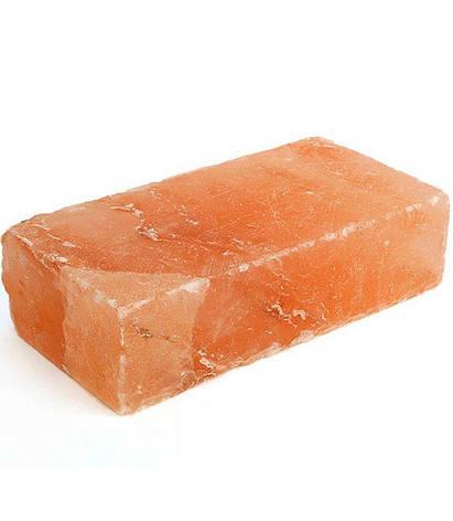 Гималайская розовая соль Кирпич 20/10/5 см для бани и сауны, фото 2