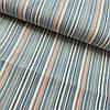 Тканина декоративна з тефлоновим просоченням в блакитну і бежеву смужку, ширина 180 см