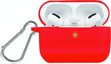 Силиконовый чехол для AirPods Pro Promate Silicase-Pro с карабином Red