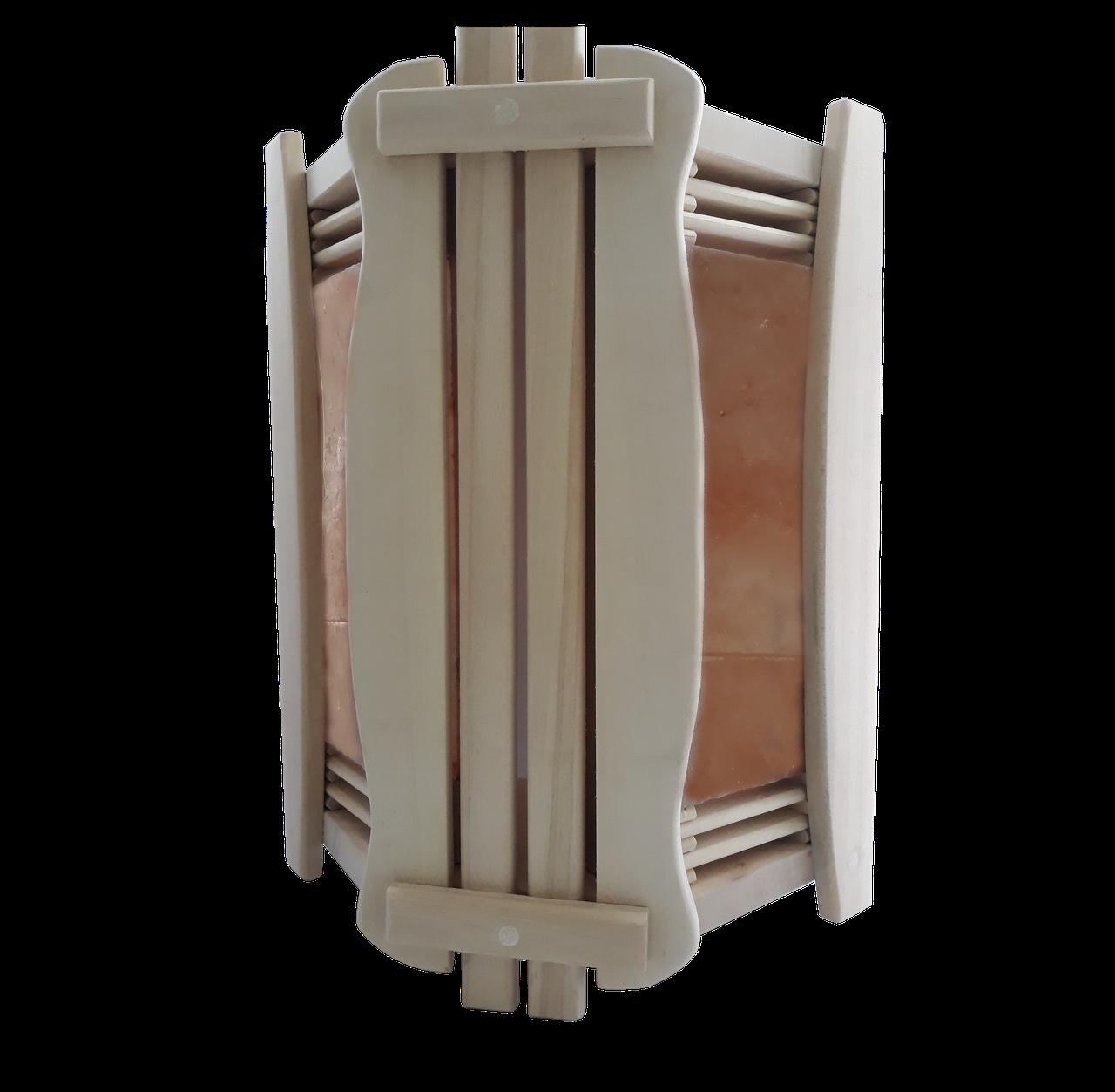 Ограждение светильника угловое GREUS с гималайской солью 2 плитки для бани и сауны