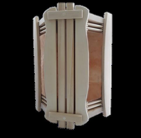 Ограждение светильника угловое GREUS с гималайской солью 2 плитки для бани и сауны, фото 2