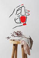 Інтер'єрна вінілова наклейка Лак для манікюру (дизайн нігтів нігті майстер манікюру) матова 300х360 мм